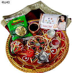 Karva chauth southwark carers for Aarti thali decoration with rice